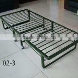 direct factory price strong angle steel space saving hotel extra roll away bed folding bed