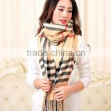 Brand Cashmere Scarf Women Plaid Thick Soft Designer Scarf Shawls And Scarves Warm Blanket Scarf Echarpes Foulards Women Luxury