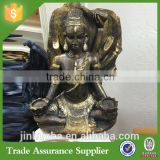 Custom Resin Buddha Statue Holding Tea Light Religion Statue