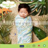 MS-24 Anti-bacterial Good Breathable Cheap Swaddle Blanket Printed Muslin Cotton Cloths Baby Towel