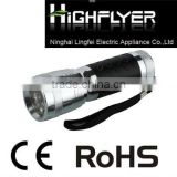 Hot sale 14 LED aluminium flashlight with black rubber in the body LED light gift torch LFL219-6X