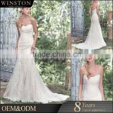 100% Real Photos Custom Made embroidered tulle fabric bodice satin lace cross back dubai wedding gown