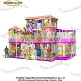 Plastic Playground Material and Indoor Playground Type Slide and kids'indoor commercial naughty castle sale!