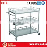 3-tier stainless steel trolley