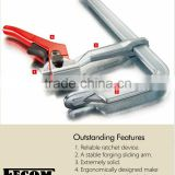 2015 Different size heavy duty steel bar clamp F type wood ratchet clamp hand tool bar clamp