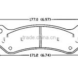 D785 for HUMMER CHEVROLET rear ak brake pad