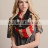 100%POLYESTER GLAM GRID American FLAG INFINITY SCARF