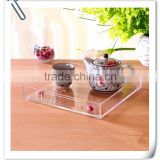 Custom lucite high quality cup holder tray, plastic cup holder tray