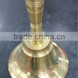 "8 ""hot sale high quality brass bell hand bell for school church"