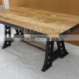 INDUSTRIAL IRON WOOD DINING TABLE, FOR HOME FURNITURE