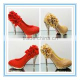 New Arriva Flowers Red Bridal Wedding Shoes(WS-5006)                                                                         Quality Choice
