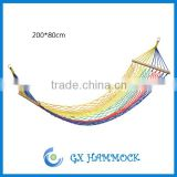 Outdoor fabric nylon hammock with rope