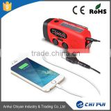 Solar charger dynamo hand crank flashlight radio