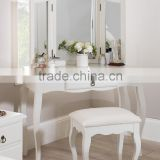 2016 White Dressing Table Make Up Desk Home Bedroom Mirror Furniture Stool Drawer Set Factory&Seller&Supplier&Distributor