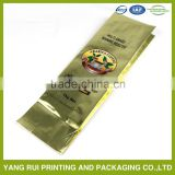 Stand Up Ziplock Valve Mylar Packaging Pouch For Coffee Bag With Valve