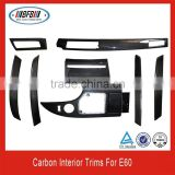 CAR INTERIOR TRIMS FOR BMW E60 M5 STYLE HIGH QUALITY CARBON FIBER 2006-2010