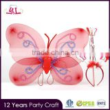Costume butterfly wings baby girl fairy dress with butterfly wing