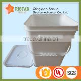 Bulk buy FDA grade transparent PP materials car washing tools plastic square bucket from china