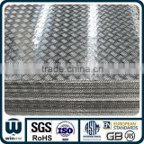 high quality factory price of five bars 1050 aluminum tread plate diamond plate for antiskid floor