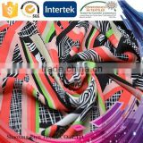 China supplier 75D/ 100D 110GSM polyester african print fabric, georgette fabric for dress