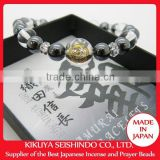 Oda Nobunaga bracelet, beautiful hematite and crystal natural stones bracelet, high quality jewelry natural stone bracelet