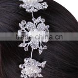 Chinese suppliers Yiwu Jewelry High quality butterfly Rhinestone Bridal wedding headdress tiara crown