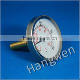 Economy bimetal pipe hot water thermometer