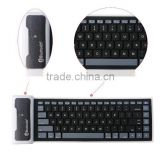 Good design foldable waterproof wireless bluetooth soft silicone keyboard for ipad