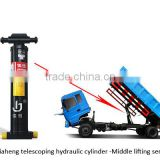 factory direct sales under-body hydraulic telescopic cylinder for tipper truck