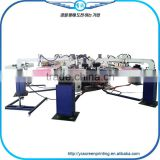 6 Color 14 Station T-shirt Automatic Rotary Silk Screen Printing Machine With Flash Dryer For Sale