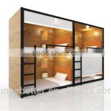China factory cheap price heave duty capsule hostel Wooden and metal modular bunk sleeping beds for wholesales