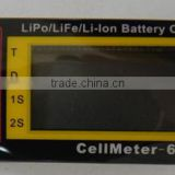 CellMeter-6 LiPo Battery Voltage Checker Tester LiFe/Li-ion Battery charger