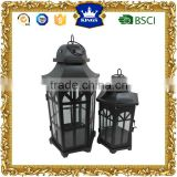 Home garden decoration black moroccan metal candle lanterns