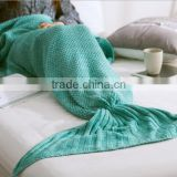 Beautiful Knitted Mermaid Tail Blanket and Mermaid Blanket for Adult, All Seasons Sleeping Blankets