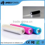 round 2200mah powerbank with led flashlight