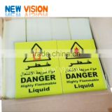 fluorescent yellow-green high intensity prismatic reflective fire signs