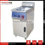 Stainless Steel Industrial Gas Chicken Fryer With Wheel KFC Chips Gas Fryer
