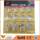 High Quality 4pcs and 12pcs Iron Padlock Set Security Lock Set 25mm,32mm,38mm
