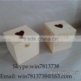 Natural Pine Wood Candy Box With Heart Shape Lid High Quality Christmas Gift Package Box DIY Storage Cards Box In Stock 13*13*13