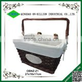 Custom antique portable bike basket for decoration