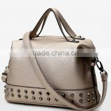 2016 European style studded decoration ladies girls bags