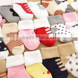 Wholesale cute thick warm winter baby socks new fashion design cheap ankle fuzzy baby socks