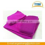 China supplier microfiber printed custom checked dish washing cleaning towel cloth sponge set wholesaleg cloth