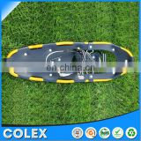Snowshoes with Carbon steel pivot, Made of PVC Decking and Ultra strong Aluminum 6000 frame