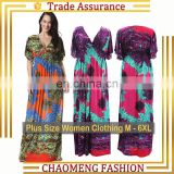 3004-2Quality Short Sleeve Angela Maxi Dresses Bulk Wholesale Plus Size Bohemian Long Summer Boho Floral Sexy Casual Beach Dress