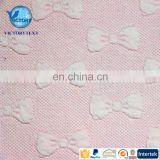Knitted Weft Cotton Polyester Spandex Double Sided Bowknot Quilt 3D Jacquard Butterfly Fabric