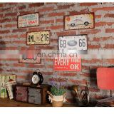 Printed Souvenir Vintage Car Number Plate for wall decoration