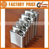 Wholesale Promotional Mini Portable Stainless Steel Hip Whisky Flask