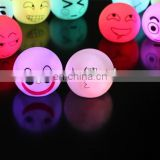 cute expression PVC ball led light