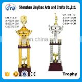 Gold /silver attractive victory goddess sports match trophy